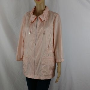 Chico's weekends thin jacket size 2 or large peach